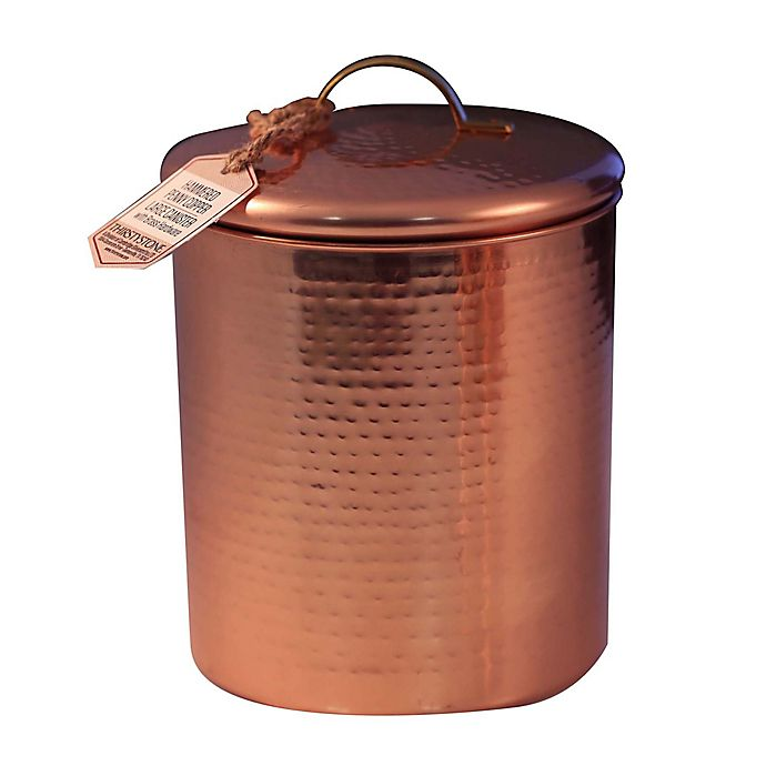 Alternate image 1 for Thirstystone® Large Hammered Penny Canister with Brass Handle