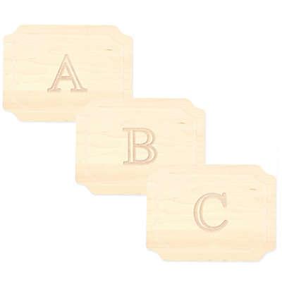 Cutting Board Company 9-Inch x 12-Inch Wood Monogram Cheese Board in Maple