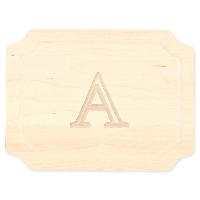 Alternate image 1 for Cutting Board Company 9-Inch x 12-Inch Wood Monogram Letter \