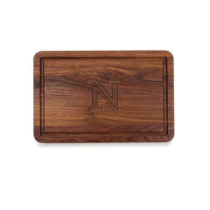 Alternate image 1 for Cutting Board Company 10.5-Inch x 16-Inch Wood Monogram Letter \