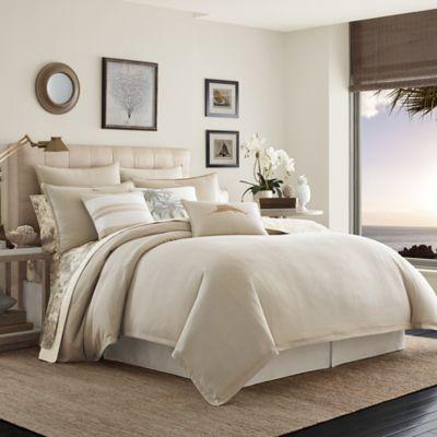 Tommy Bahama 174 Shoreline Comforter Set In Light Brown Bed