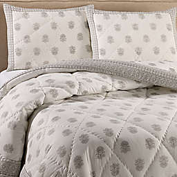Amor Quilt Set in Grey