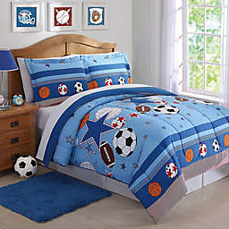 Sports and Stars Comforter Set in Blue