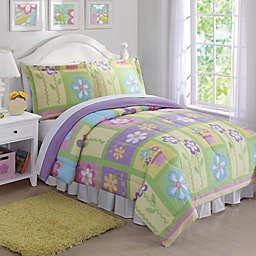Sweet Helena Comforter Set in Green/Yellow