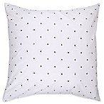 kate spade new york Bikini Dot European Pillow Sham in White/Charcoal