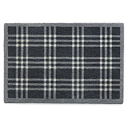 Bosmere Check Muddle Mat in Black/Grey