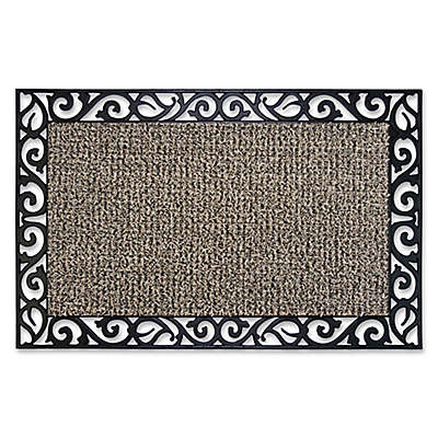 GrassWorx 24-Inch x 36-Inch Stems and Leaves Door Mat in Taupe
