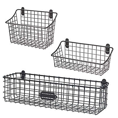 Spectrum® Vintage Cabinet & Wall Mount Basket Collection
