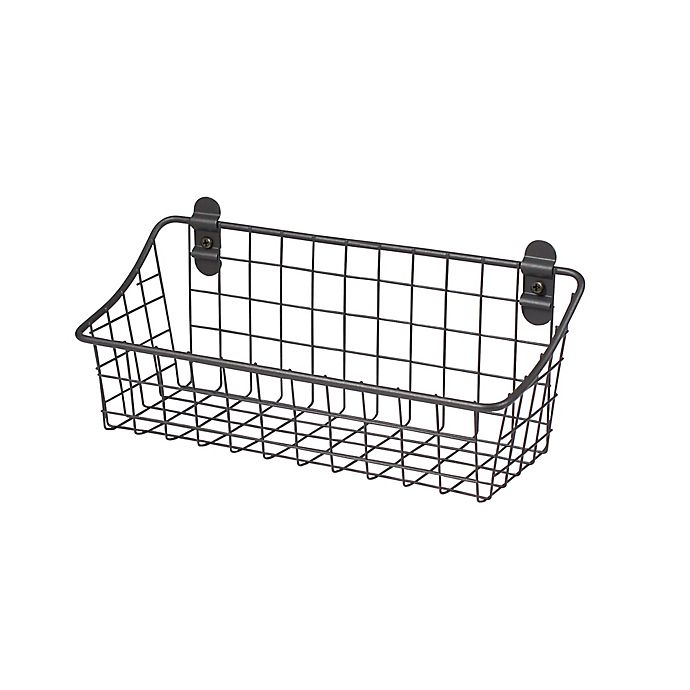 Alternate image 1 for Spectrum® Vintage Small Cabinet & Wall Mount Basket in Grey