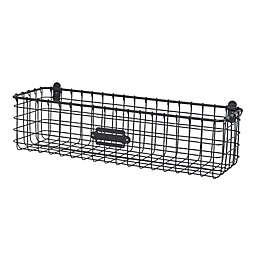Spectrum® Vintage Small Wall Mount Basket in Grey