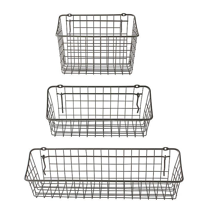 Alternate image 1 for Spectrum Steel Pegboard & Wall Mount Basket in Grey