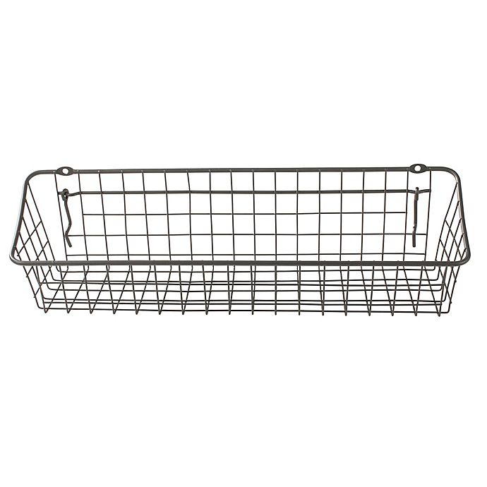 Alternate image 1 for Spectrum® 4-Inch x 16-Inch Pegboard & Wall Mount Basket in Grey