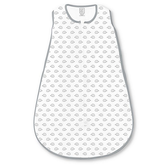 Alternate image 1 for SwaddleDesigns® zzZipMe® Size 6-12M Tiny Hedgehog Sack in White/Grey