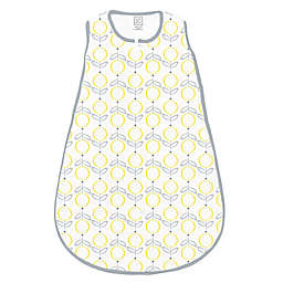 SwaddleDesigns® zzZipMe® Lolli Fleur Sack in Yellow/Grey