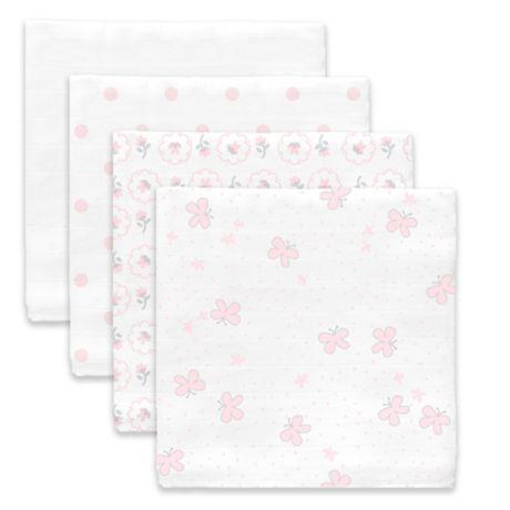 SwaddleDesigns® Butterflies Muslin Swaddle Blanket in