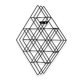 Diamond-Shaped Wall-Mount CD Rack