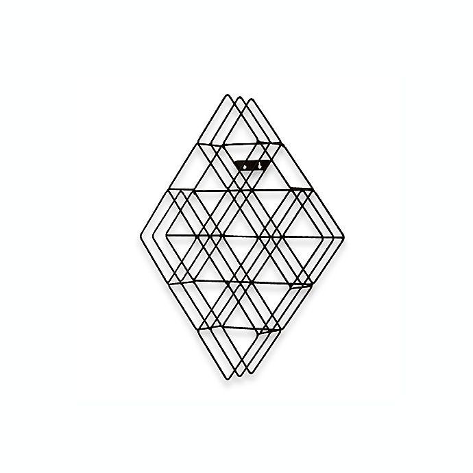 Alternate image 1 for Diamond-Shaped Wall-Mount CD Rack