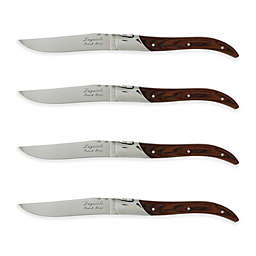 French Home Laguiole Connoisseur Steak Knives in Rosewood (Set of 4)