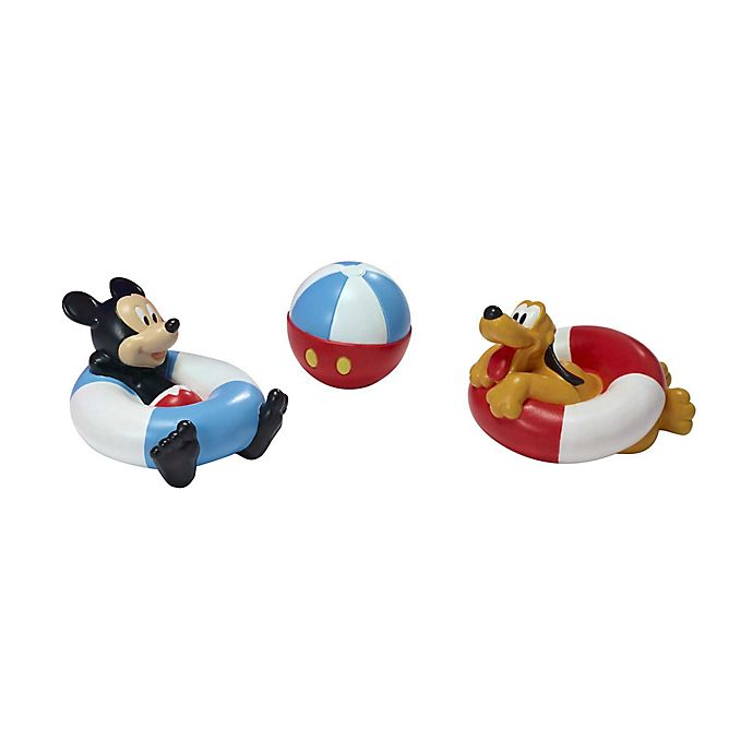 Alternate image 1 for First Years Disney® 3-Pack Mickey Mouse and Pluto Bath Squirt Toys