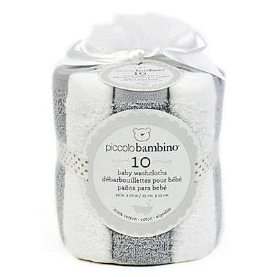 Piccolo Bambino® 10-Pack Terry Washcloths