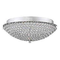 Quoizel Platinum Collection Infinity Medium Flush Mount in Silver