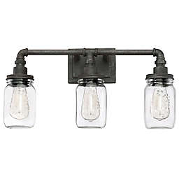 Quoizel® Squire 3-Light Wall-Mount Bath Fixture in Black