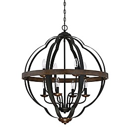 Quoizel Siren Cage Chandelier in Black