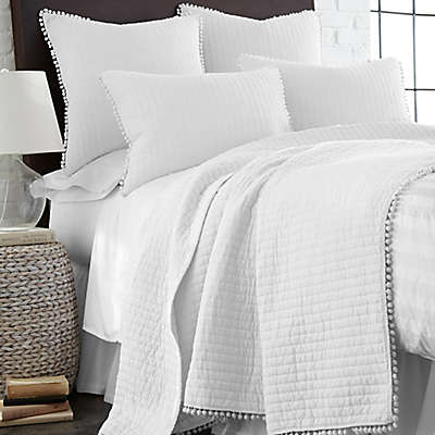 Levtex Home Pom Pom Reversible Quilt in White