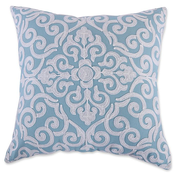 Alternate image 1 for Levtex Home Massana Crewel Throw Pillow in Teal