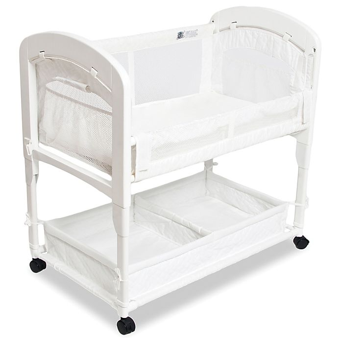 Alternate image 1 for Arm's Reach® Cambria Wood Quilted Co-Sleeper® Without Skirt in White