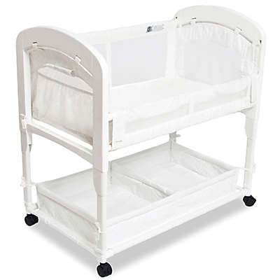 Arm's Reach® Cambria Wood Quilted Co-Sleeper® Without Skirt in White