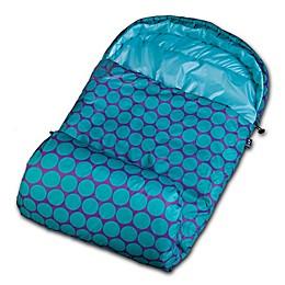 Wildkin Big Dot Stay Warm Sleeping Bag in Aqua