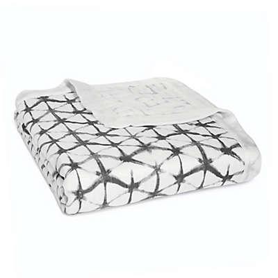 aden + anais® Pebble Shibori Silky Soft Dream Blanket in Black/White