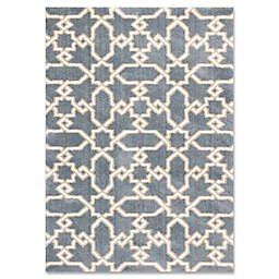 Oasis Manor 7-Foot 10-Inch x 10-Foot 6-Inch Area  Rug in Slate Blue