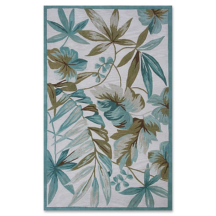 Alternate image 1 for KAS Tropica Coral 8-Foot x 10-Foot 6-Inch Area Rug in Ivory