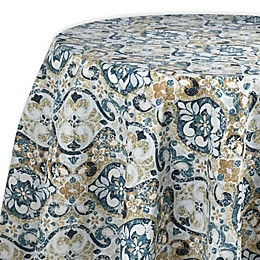Town & Country Sagrada Laminated Fabric 70-Inch Round Tablecloth