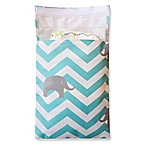 Tiny-Tote-Along Elephant Chevron Diaper Bag in Blue