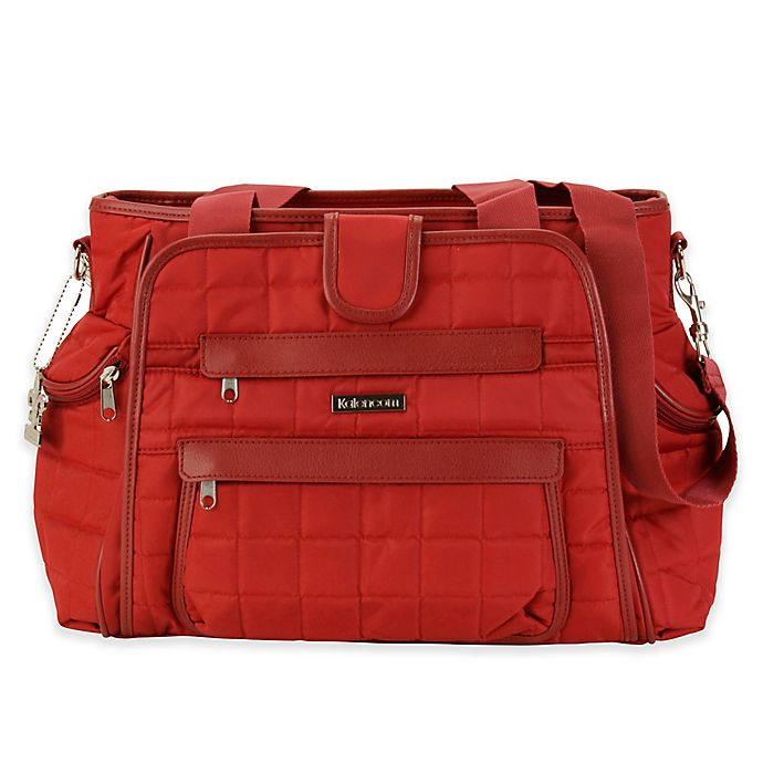 Alternate image 1 for Kalencom® Nola Featherweight Quilted Diaper Bag Tote in Rhubarb