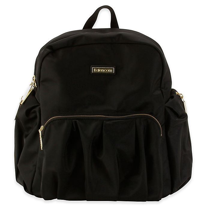 Alternate image 1 for Kalencom® Chicago Backpack Diaper Bag in Black