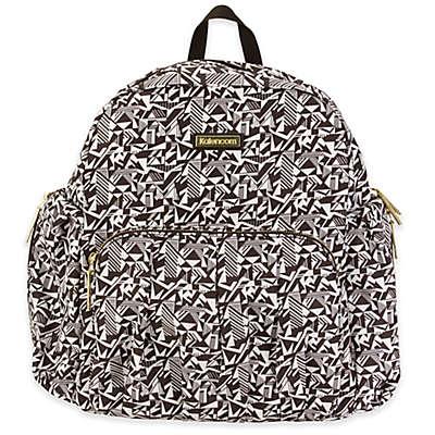 Kalencom® Chicago Backpack Diaper Bag in Black/White