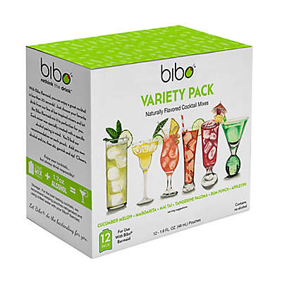 Bibo® Cocktail Pouch Variety Pack (Pack of 12)
