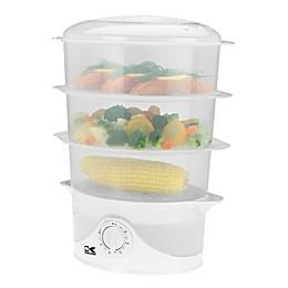 Kalorik 3-Tier Food Steamer in White