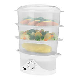 Kalorik 3-Tier Food Steamer in White