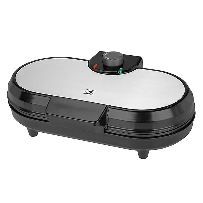 Alternate image 1 for Kalorik® Double Belgian Waffle Maker in Black/Silver