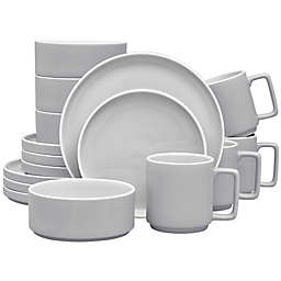 Noritake® ColorTrio Stax 16-Piece Dinnerware Set in Slate