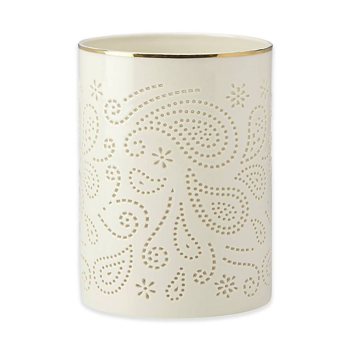Alternate image 1 for Lenox® Pierced PaisleyHurricane Lamp
