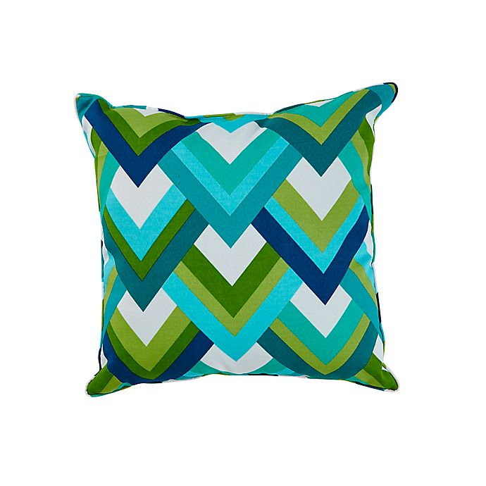 Alternate image 1 for Resort Square Outdoor Throw Pillow in Peacock