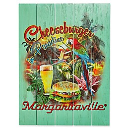Margaritaville® Cheeseburger in Paradise Outdoor Wall Art in Green