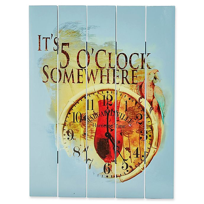 Alternate image 1 for Margaritaville® 5 O'Clock Somewhere 18-Inch x 24-Inch Wall Art in Blue