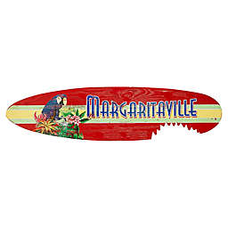 Margaritaville® Shark Bite Surfboard 14-Inch x 55-Inch Wall Art in Red
